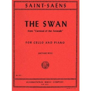Saint-Saens Camille The Swan from Carnival of the Animals. For Cello and Piano. by International